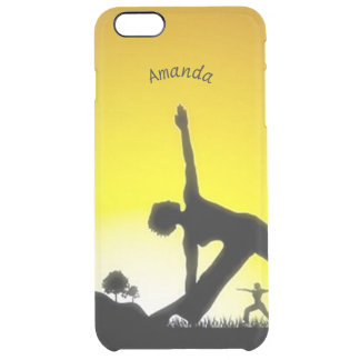 Yoga Pilates Session Out in Nature Personalized Clear iPhone 6 Plus Case