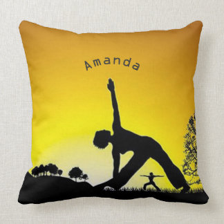 Yoga Pilates Session Out in Nature Personalized Cushion