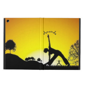 Yoga Pilates Session Out in Nature Personalized iPad Air Covers