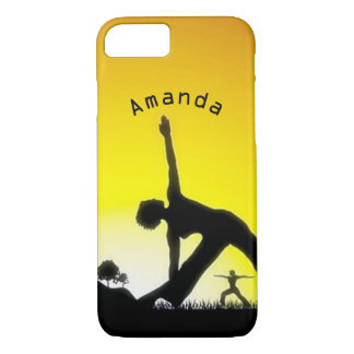 Yoga Pilates Session Out in Nature Personalized iPhone 8/7 Case