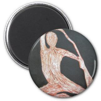 Yoga Pose Body Exercise Original Oil Painting Art Refrigerator Magnets