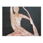 Yoga Pose Body Exercise Original Oil Painting Art Postcards