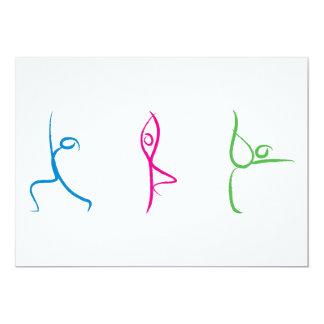 Yoga Pose Card 13 Cm X 18 Cm Invitation Card