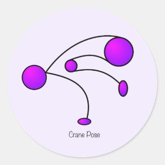Yoga Pose - Crane Pose Round Sticker