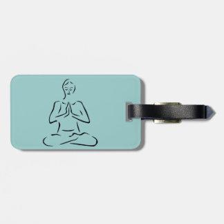 Yoga Pose Design Luggage Tags