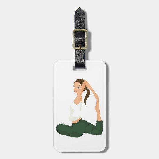 Yoga Pose Female Yoga Practitioner Personalised Luggage Tag