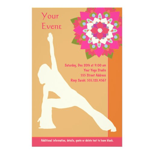 Yoga Pose Flyer Zazzle