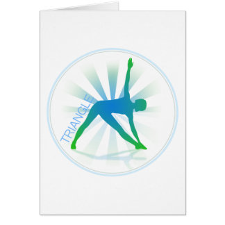 Yoga Pose Greeting Card (triangle)