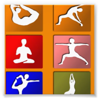Yoga Pose Icons Photo Art