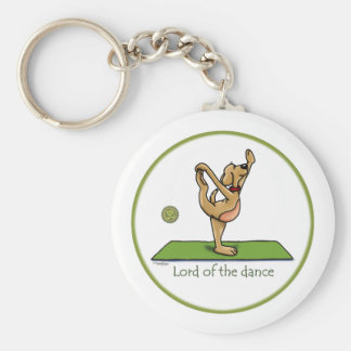 Yoga pose - Lord of the Dance Key Ring