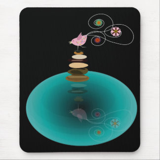 Yoga pose, one leg stand pose mouse pad
