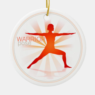 Yoga Pose Ornament (warrior pose)