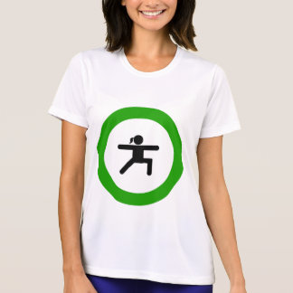 Yoga Pose Sign Womens Active Tee