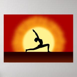 hatha yoga posters  prints  zazzle uk