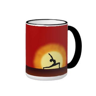 Yoga Pose Silhouette Sunrise Tea or Coffee Mugs Mug