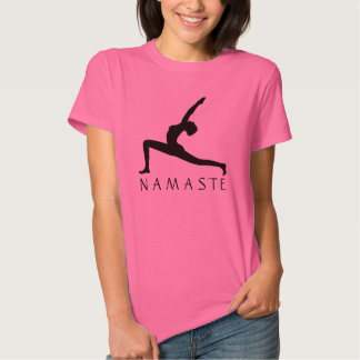 Yoga Pose Silhouette Women's Fine Jersey T-Shirts