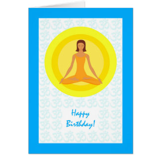 Yoga Pose, Take Time to Breathe, Birthday Card