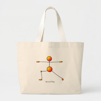 Yoga Pose - Warrior II Pose Jumbo Tote Bag