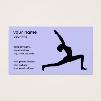 Yoga Pose White Silhouette Business Cards