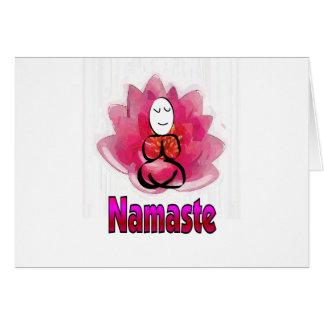 "Yoga Pose with Lotus Flower ""Namaste"" Card"