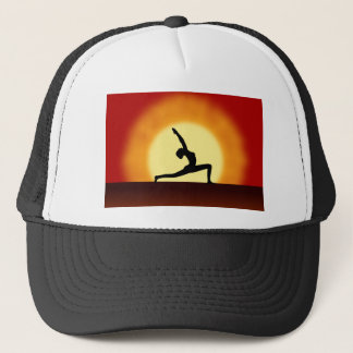 Yoga Pose Woman Pose Silhouette Sunrise Hats
