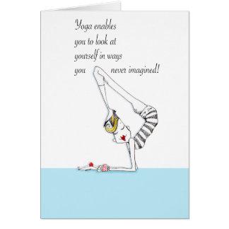 Yoga Pose Yoga humor card suitable for framing