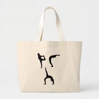 Yoga Poses Tote Bags