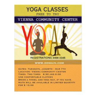 Yoga Poses 21.5 Cm X 28 Cm Flyer