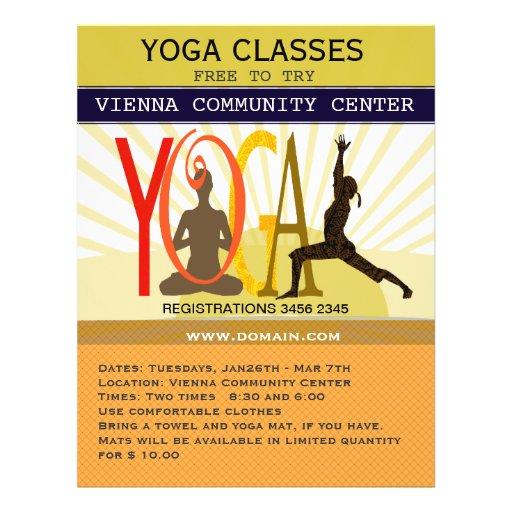 Yoga Poses Flyer Design