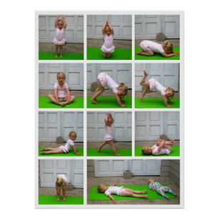 yoga poses posters  prints  zazzle uk
