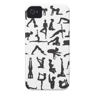 Yoga Poses Silhouettes Case-Mate iPhone 4 Case