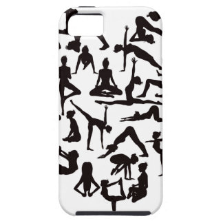 Yoga Poses Silhouettes Heart iPhone 5 Cases