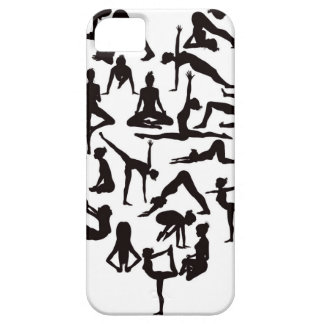 Yoga Poses Silhouettes Heart iPhone 5 Covers