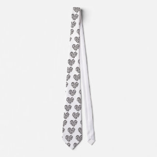 Yoga Poses Silhouettes Heart Tie