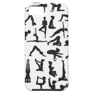 Yoga Poses Silhouettes iPhone 5 Covers