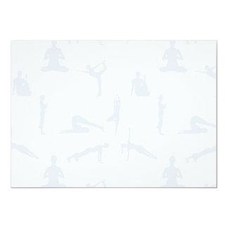 Yoga Positions 13 Cm X 18 Cm Invitation Card