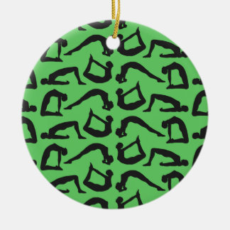 Yoga Positions Silhouettes Christmas Ornament