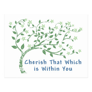 Yoga Quote: Cherish That Which is Within You Postcard