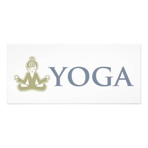 Yoga Personalized Rack Card