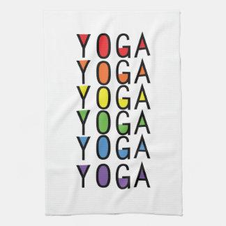 Yoga Rainbow Graphic Tea Towel