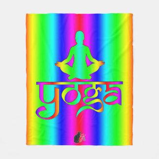 Yoga Rainbow Intentions Fleece Blanket