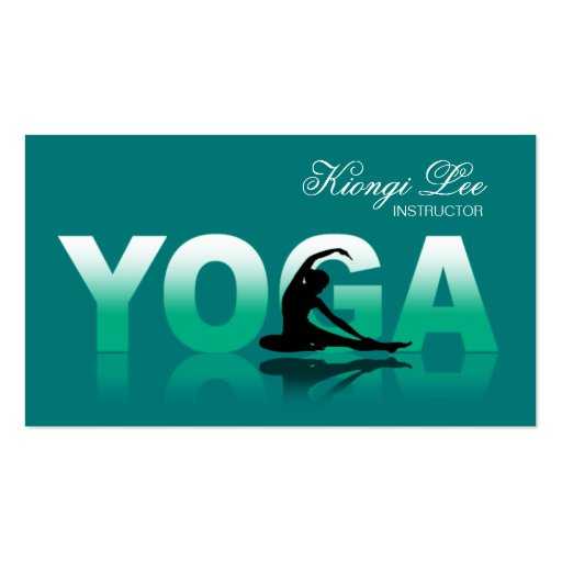 Yoga Reflections, Yoga Instructor, Yoga Class Business Card Template