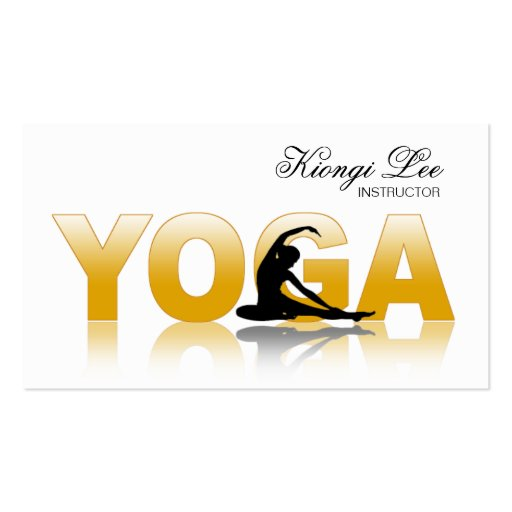 Yoga Reflections, Yoga Instructor, Yoga Class Business Card Templates