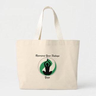 Yoga RepurposeFeelings Large Tote Bag