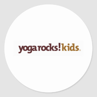 Yoga Rocks! Apparel Classic Round Sticker