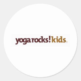 Yoga Rocks! Apparel Round Sticker