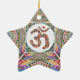 YOGA Room and OM Mantra at Back n Center Christmas Ornament
