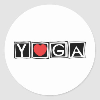 Yoga Round Sticker