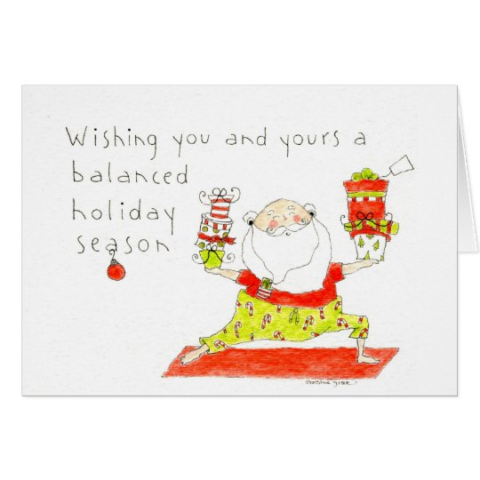 Yoga Santa Holiday Card