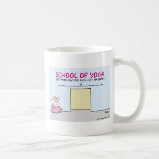 yoga school levitate high must enter basic white mug